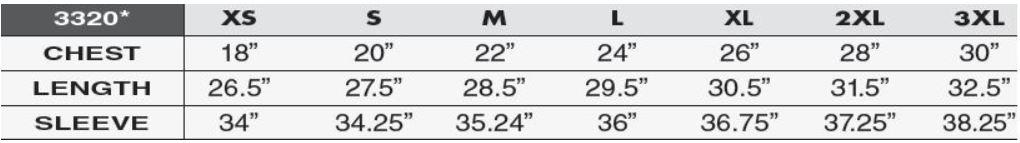 3320_Size Chart